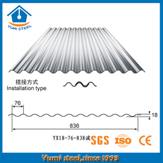 Corrugated Metal Roofing Sheets for Residential Industrial Buildings