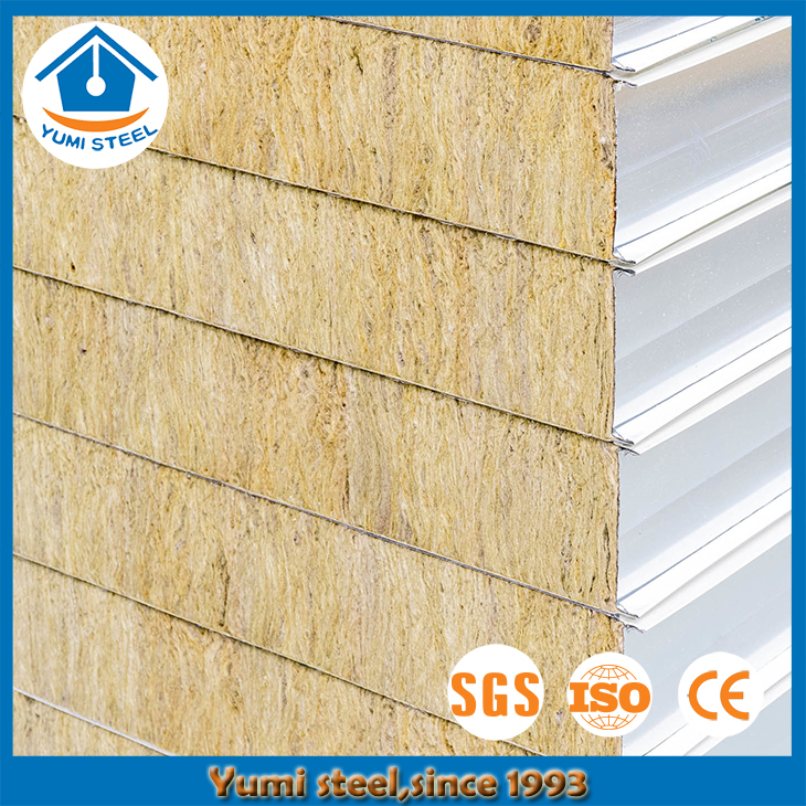 50mm Fireproof Rockwool Steel Sandwich Panels