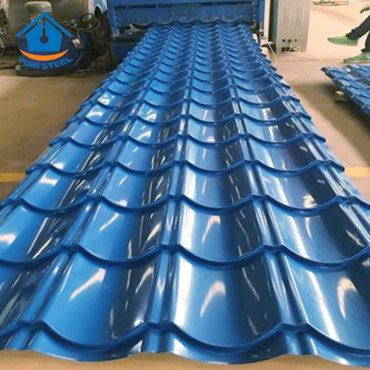 Galvanized Corrugated Roof Tile Steel Cladding