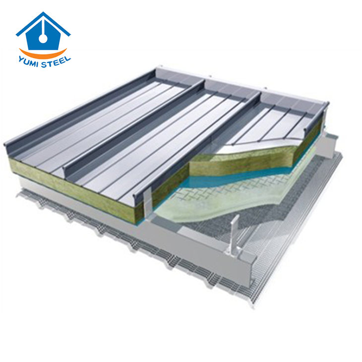 High Rib Aluminum Standing Seam Metal Cladding
