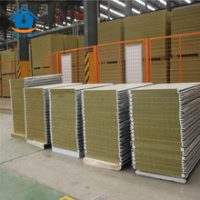 100mm High Density Rockwool Sandwich Panel with PU Edges for Wall