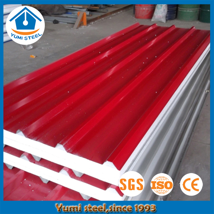 Color Coated Corrugated EPS Roof Sandwich Panel for Office Building