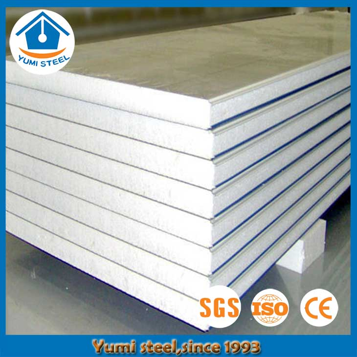 75mm Insulated EPS Sandwich Wall Panels for Cool Room