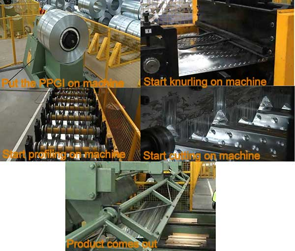steel decking production process
