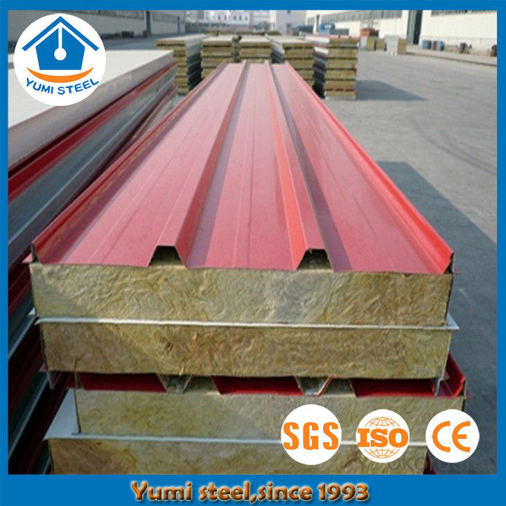 CE Approved Fireproof Rockwool Sandwich Roof Panel Material